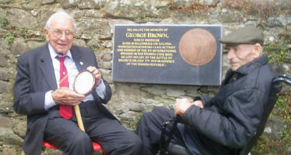 Jack and Bob at the plaque.